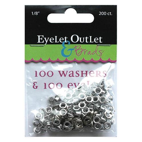 1/8 size eyelets - 100 pack