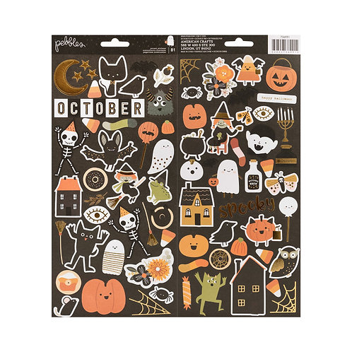 Pebbles Spoooky 6x12 stickers pack