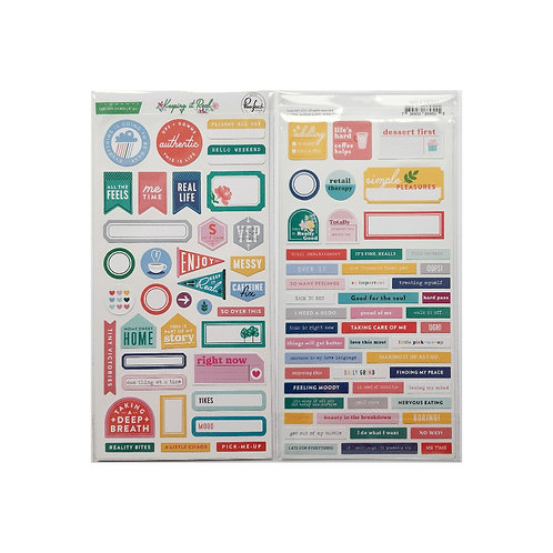 Pinkfresh Keeping it Real cardstock stickers pack