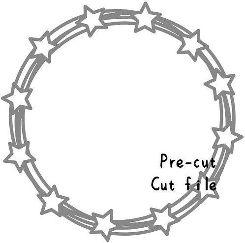 Pre Cut Cut File - star wreath