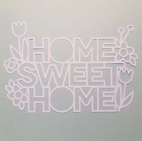 Home Sweet Home Cut File Title by Jillibean Soup