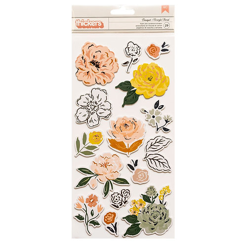 Crate Paper Fresh Bouquet Accent Thickers stickers pack