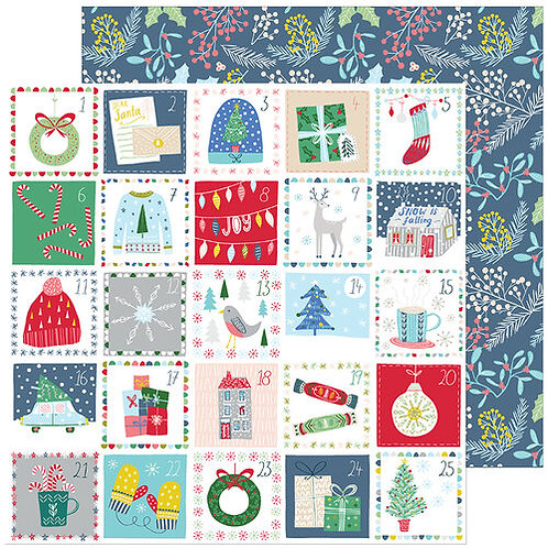 Pinkfresh Studio Home For The Holidays Advent Love paper sheet