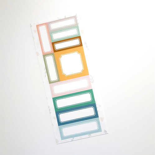 Custom Cut Apart Labels Sheet