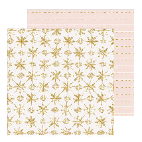 Crate Paper Snowflake Snowcapped Patterned Paper Sheet
