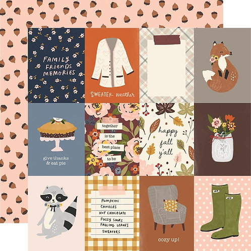 Simple Stories Cozy Days 3x4 Elements Paper