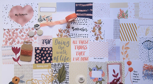 Hazel Custom Card Kit for pocket scrapbooking