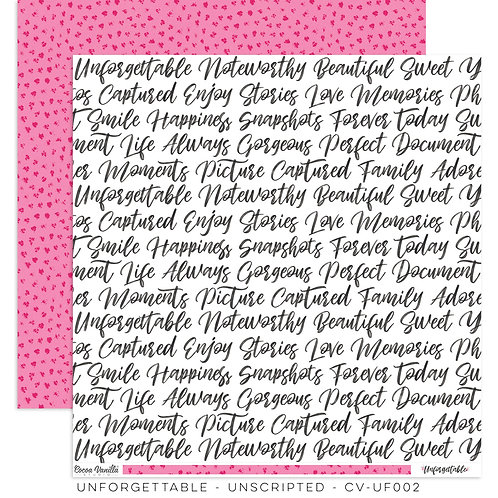 Cocoa Vanilla Unforgettable - Unscripted paper sheet