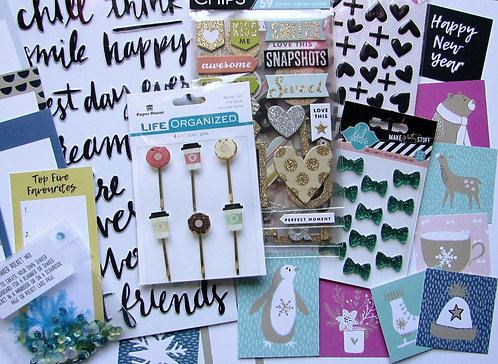 Snow Love Embellishment Quirky Kit
