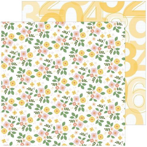 Pinkfresh Studio Some Days Fresh Flowers patterned paper sheet