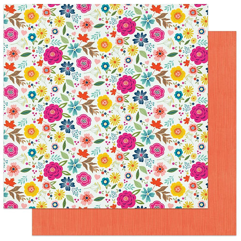 PhotoPlay Wicker Lane Gather Together patterned paper sheet