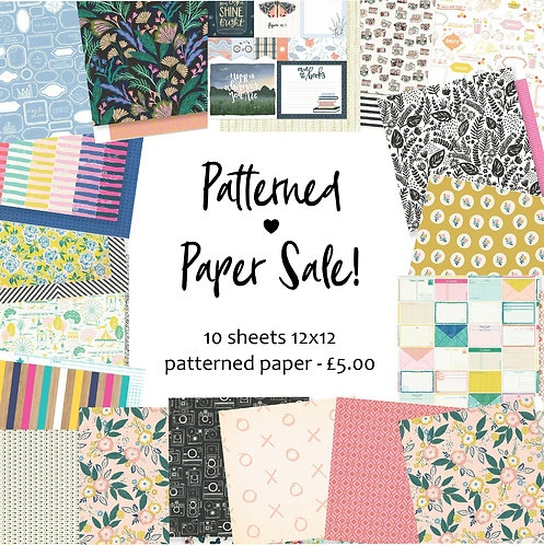Patterned Paper Offer Bundle