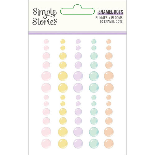 Simple Stories Bunnies and Blooms Enamel Dots Stickers