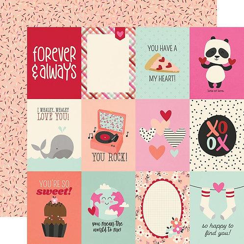 Simple Stories Sweet Talk 3x4 elements paper
