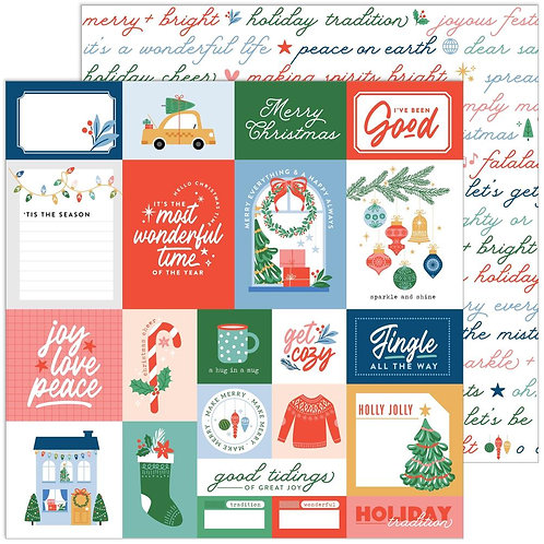 Pinkfresh Studio Oh What Fun Good Tidings Patterned Paper Sheet