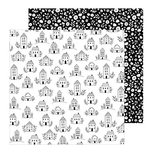 Jen Hadfield This Is Family Patterned Paper Sheet - Home Sweet Home