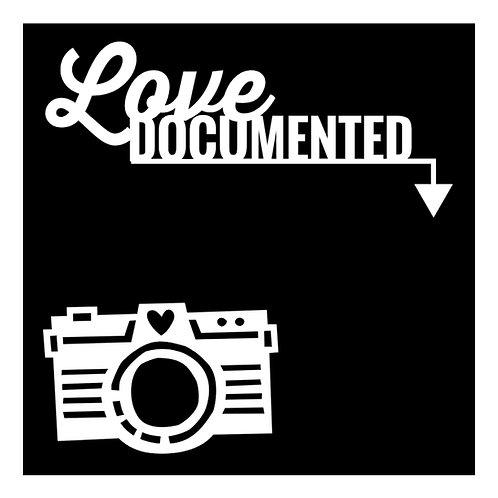 Love Documented and Camera pre-cut cut files