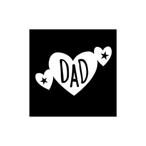 Dad With Hearts cut out cut file embellishment