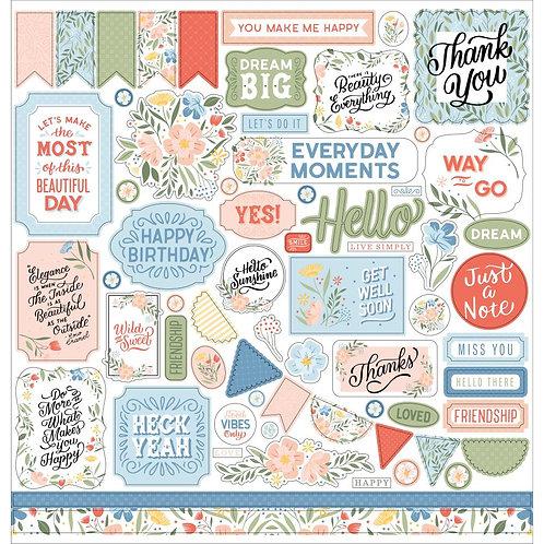 Echo Park Salutations 12x12 Element Stickers Sheet