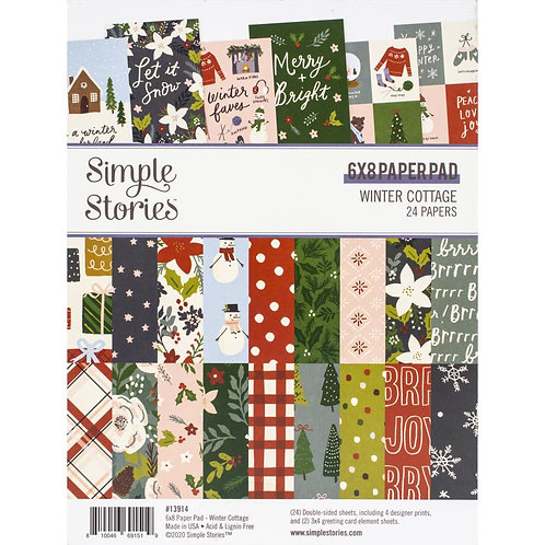 Simple Stories Winter Cottage 6x8 Paper Pack