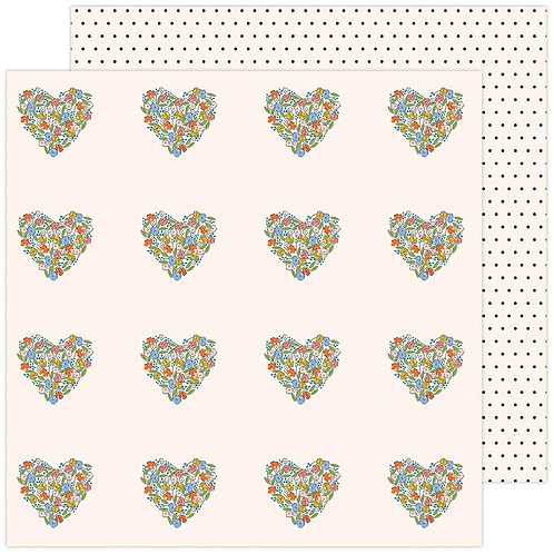 Jen Hadfield Reaching Out You Have My Heart patterned paper sheet