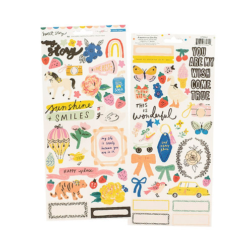 Maggie Holmes Sweet Story Cardstock 6x12 Stickers