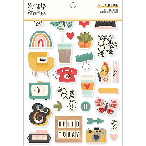 Simple Stories Hello Today Stickers Book