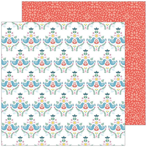 Pinkfresh Studio Everyday Musings Time for Fun patterned paper sheet