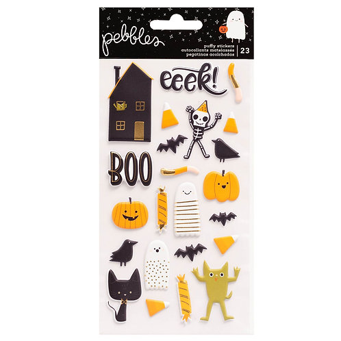 Pebbles Spoooky Puffy Stickers Pack