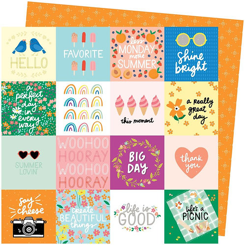Amy Tan Picnic In The Park Patterned Paper Sheet - Life's a Picnic