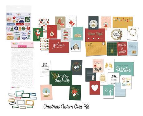 Christmas Edition November/December Quirky Kit Custom Cards