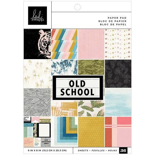 "Heidi Swapp Old School Paper Pad 6""X8"""