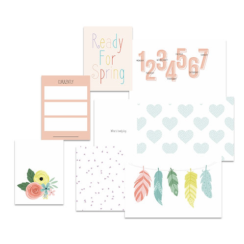 March/April 2021 Custom Cards Pocket Scrapbooking Cards Set