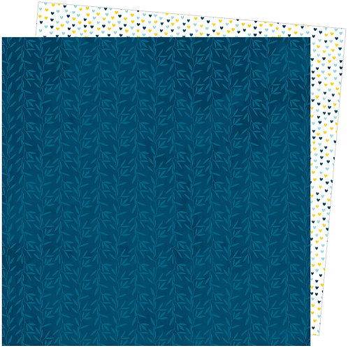 """Amy Tangerine A Slice of Life - Bamboo Blues 12""""x12""""Patterned Paper She"""