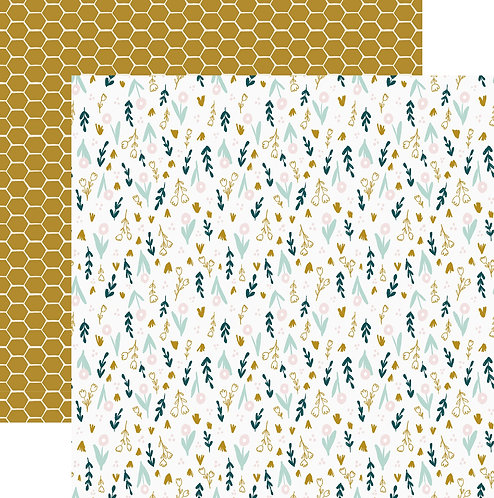 Custom Printed 'Honeycomb' patterned paper sheet