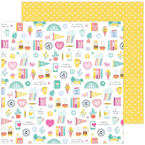 Pinkfresh Keeping it Real Daily Grind patterned paper