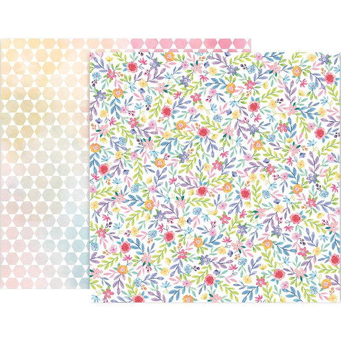 Pink Paislee Bloom Street #23 patterned paper sheet
