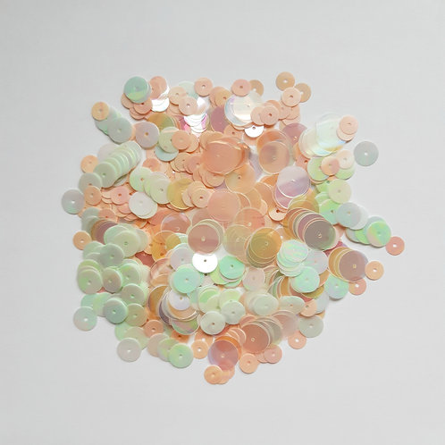 Mint, Peach and Rainbow sequin mix pack