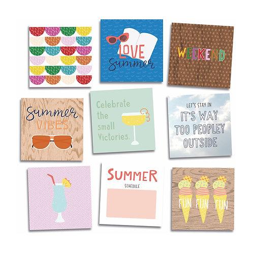 Summer Square Card Embellishments