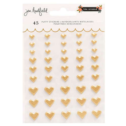 Pebbles The Avenue puffy heart stickers pack