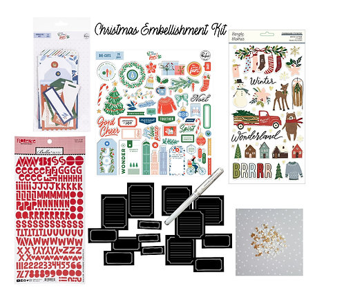 Christmas Edition November/December Quirky Kit Embellishments kit