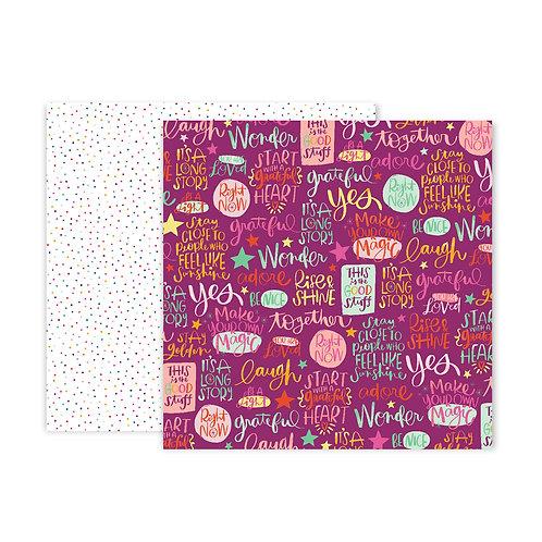Paige Evans Truly Grateful #17 patterned paper sheet