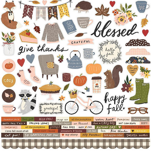 "Simple Stories Cozy Days 12""x12"" Stickers Sheet"
