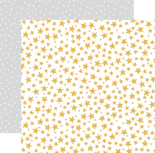 Christmas Stars Custom Patterned Paper Sheet
