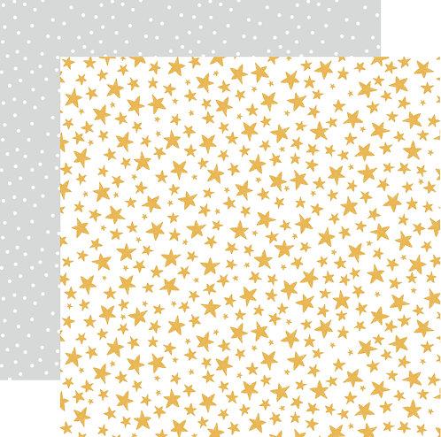 Christmas Stars Custom Patterned Paper Sheet
