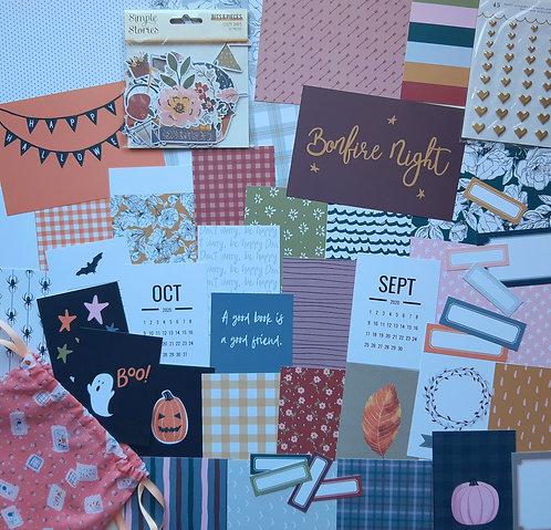 September/October Quirky Kit Custom Cards pocket scrapbooking kit