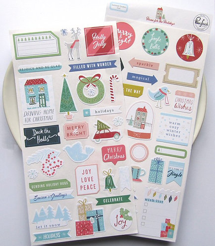 Pinkfresh Studio Home For The Holidays Stickers Pack