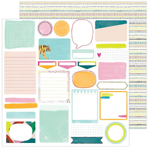Amy Tangerine Brave and Bold Take Note patterned paper