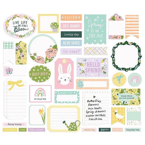Simple Stories Bunnies and Blooms Journal Bits Ephemera