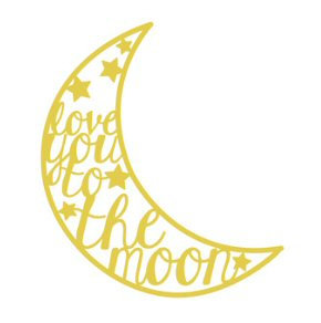 Love You To The Moon Pre-cut cut file by Paige Evans